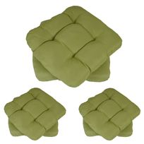 Mendler - 6x coussin Dublin, coussins de chaise, 43x41x3cm ~ vert clair