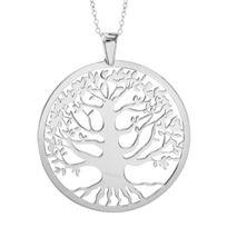 1001BIJOUX - Collier argent rhodié gros pendentif arbre de vie 40+10cm