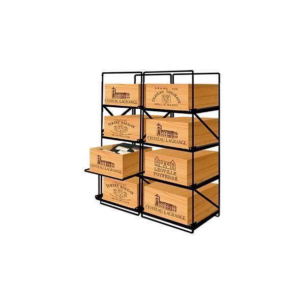 Modulorack La seule solution pour stocker 8 caisses de vins et 96 bouteilles - Aci-mod510H