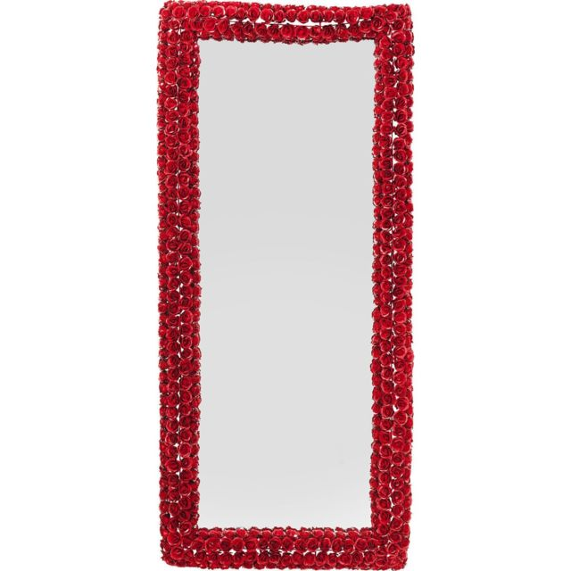 Karedesign Miroir roses rouges rectangulaire 180x80cm Kare Design