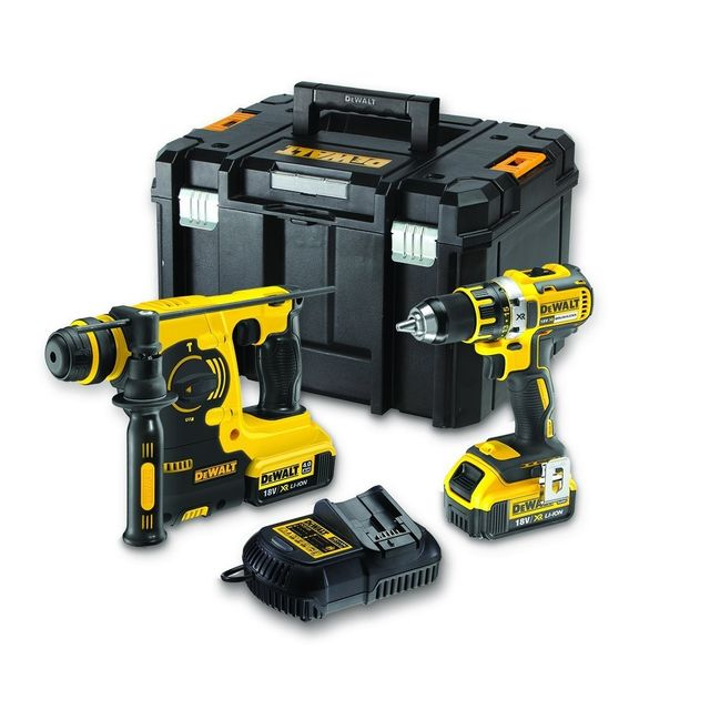 dewalt pack 2 outils 4ah perceuse perforateur 18 volts. Black Bedroom Furniture Sets. Home Design Ideas