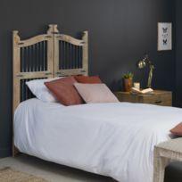Tête de lit porte bois métal 90cm   Ae74-90