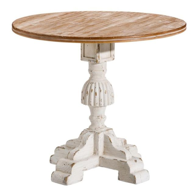 Tousmesmeubles Table de repas ronde Bois - Jeony