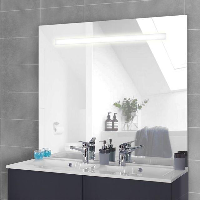 Incroyable CREAZUR - Miroir LED rétro éclairé ELEGANCE - 120x105 cm - avec NQ-49