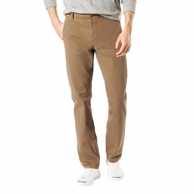 pas mal 100f7 a958e Pantalon Smart 360 Flex Alpha stretch Slim tapered Leather camel