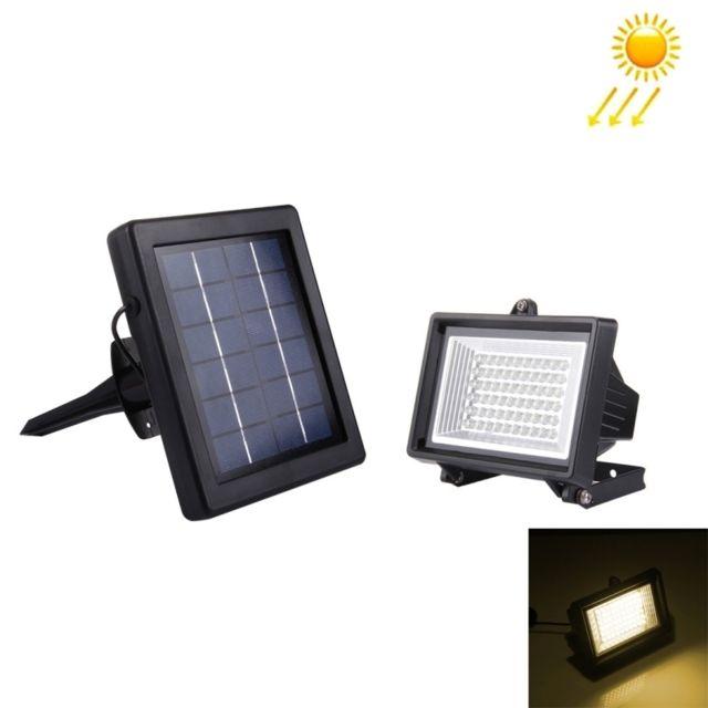 fac5922177931 Wewoo - Led Avec panneau solaire blanc 3W 60LED 200LM Ip55 lampe Floodlight  étanche avec chaud