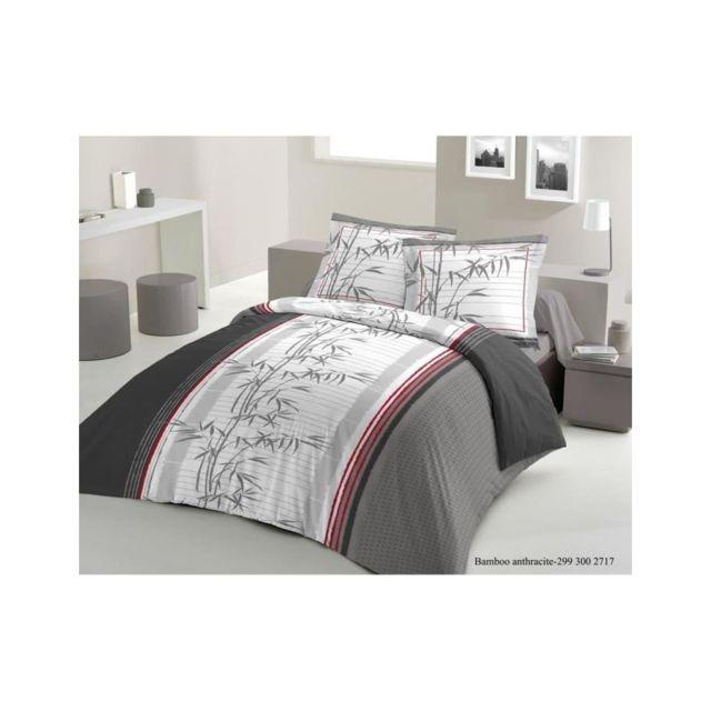 lovely home parure de couette lucky bambou 1 housse de couette 200x200 cm 2 taies 65x65 cm. Black Bedroom Furniture Sets. Home Design Ideas