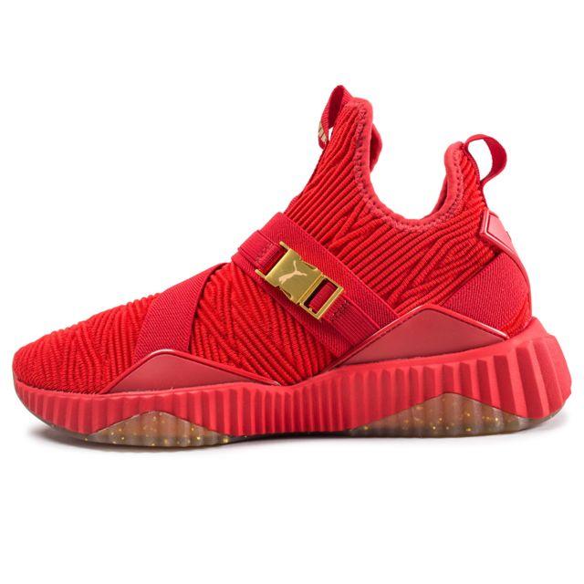 basket puma rouge femme pas cher