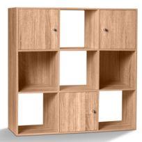 idmarket meuble de rangement cube 9 cases