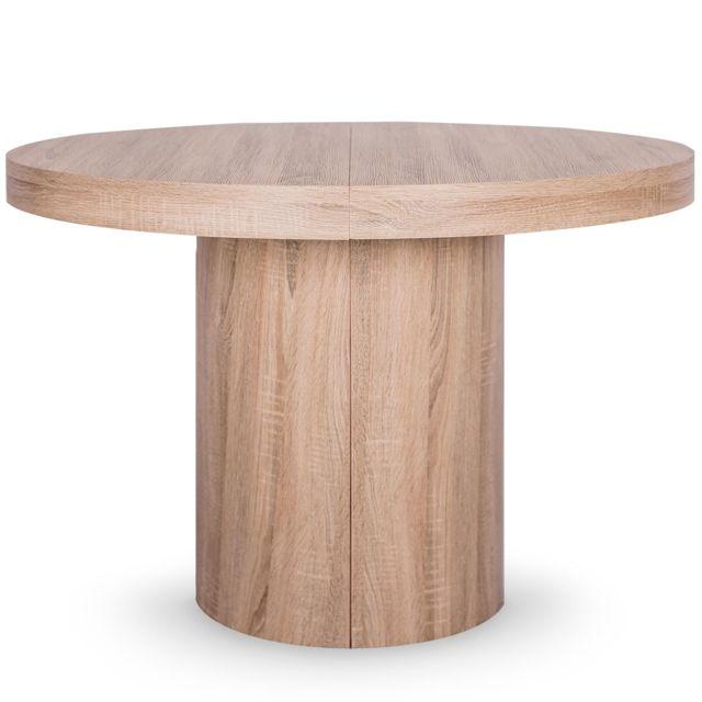Table Ronde Extensible Suzie Chêne Clair: Table Ronde Extensible Suzie XL Chêne Clair