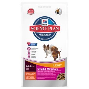 hill 39 s croquettes light au poulet dinde pour chien de petite race science plan 1 4kg pas. Black Bedroom Furniture Sets. Home Design Ideas