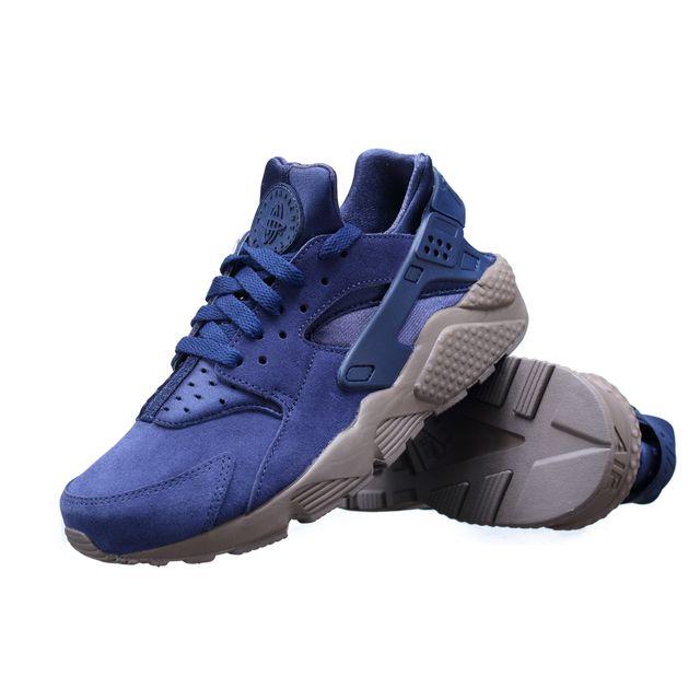 Nike Basket Air Huarache Run Se 852628 400 Bleu pas