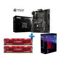 Core i7-8700K - 3,7/4,7 GHz + Ballistix Sport LT Kit 16 Go 2 x 8 Go DDR4 2400 MHz + Z370-PC-PRO