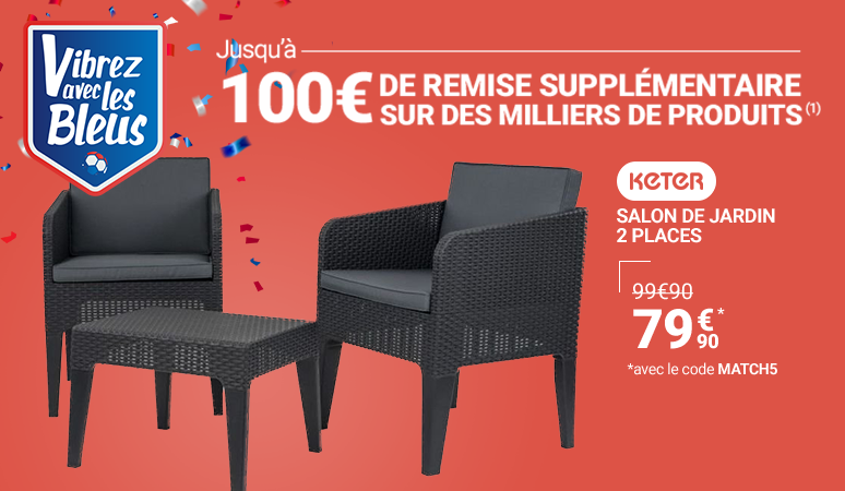 Salon de jardin 2 places KETER