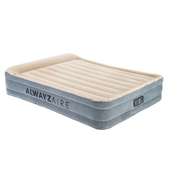 BESTWAY Matelas gonflable confort haute gamme avec pompe intégrée Alwayzaire - 2 places 152x203cm