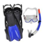 Vidaxl - Kit Plongée Palmes Masque Bleu pour Adultes Taille 42 à 46