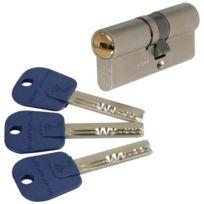 Mul-T-Lock - Cylindre 2 entrées Integrator Varié Nickelé 40x31 mm