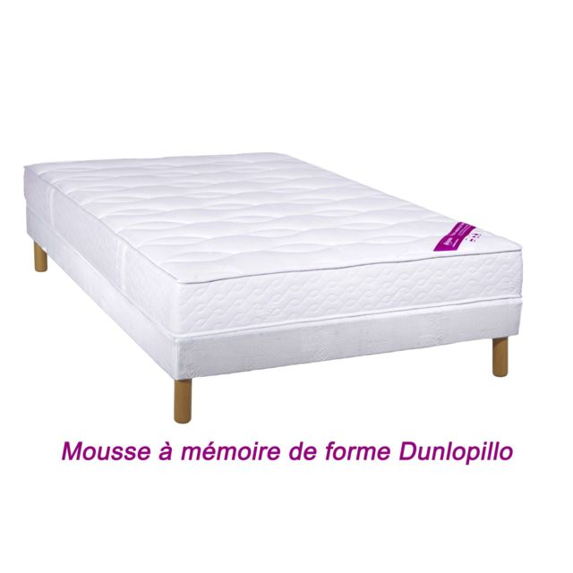 Relaxima ensemble matelas salvador mousse dunlopillo blanc pas cher achat vente - Matelas mousse dunlopillo ...