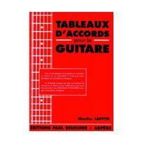 Paul Beuscher - Partition : Tableaux d'accords pour la guitare