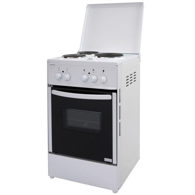 CALIFORNIA cuisinière électrique 43l 3 feux blanc - vs55315bca