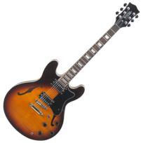 Rocktile - Pro Hb100-SB guitare eléctrique vintage sunburst
