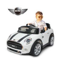BMW MOTOR SPORT - Mini Cooper voiture électrique enfants à partir de 37 mois 2 moteurs 6 V 2,5-5 Km/h phares musique télécommande blanche 53WT