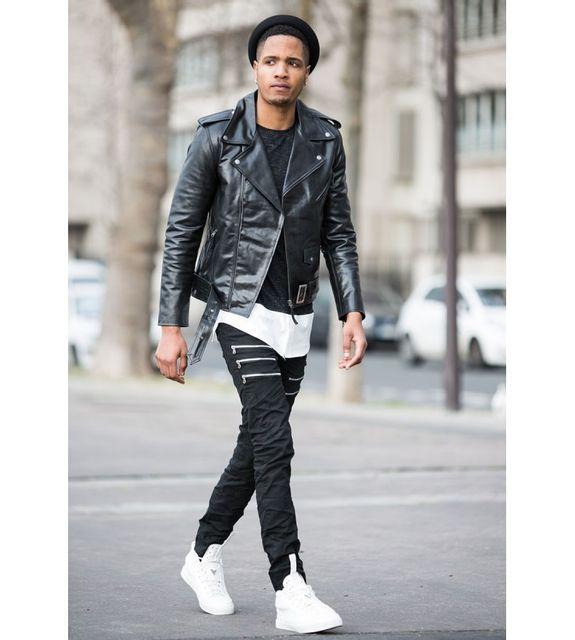 Veste cuir homme style perfecto