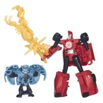 Hasbro - Figurine Transformers : Rid Mini-Con Battle Pack : Sideswipe vs Decepticon Anvil