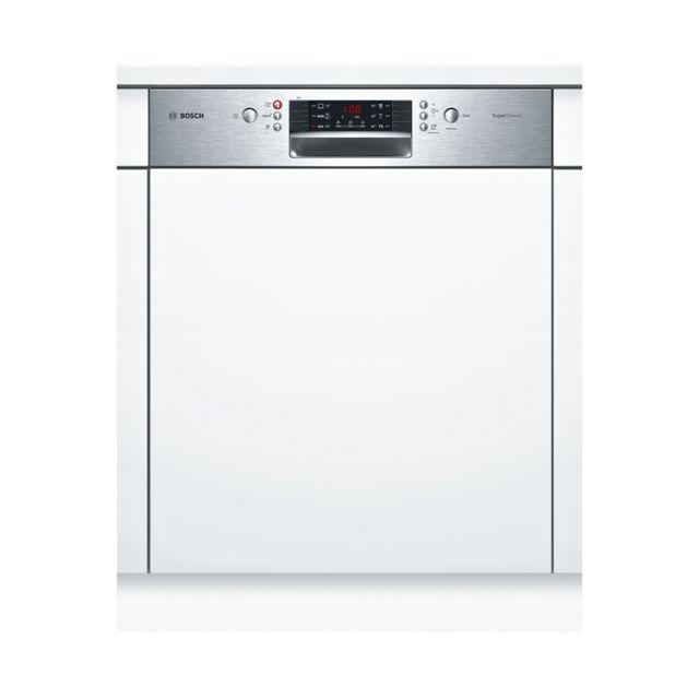 Bosch lave-vaisselle 60cm 13c 42db a++ intégrable avec bandeau inox - smi46is15e
