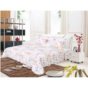 univers decor couvre lit boutis 230 x 250 cm pour lit 2 places fleurs roses pas cher achat. Black Bedroom Furniture Sets. Home Design Ideas