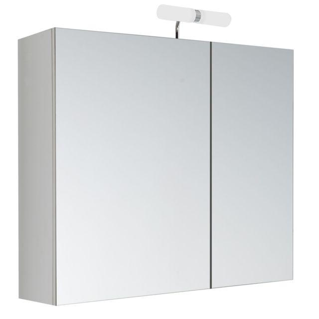 allibert armoire de toilette avec led klo 2 portes 60 x 60 cm blanc pas cher achat vente meuble haut salle de bain rueducommerce