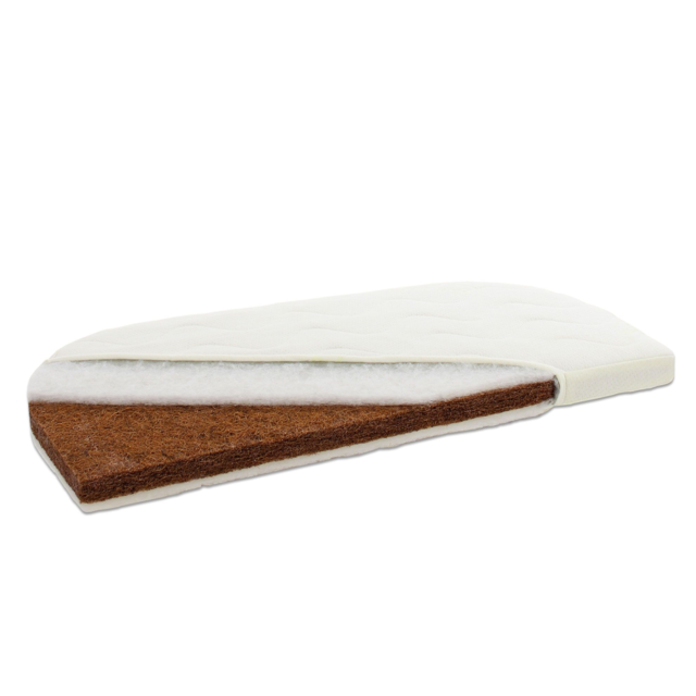 Babybay Matelas Greenfirst Coco pour berceau Comfort et Boxsping Comfort - Blanc