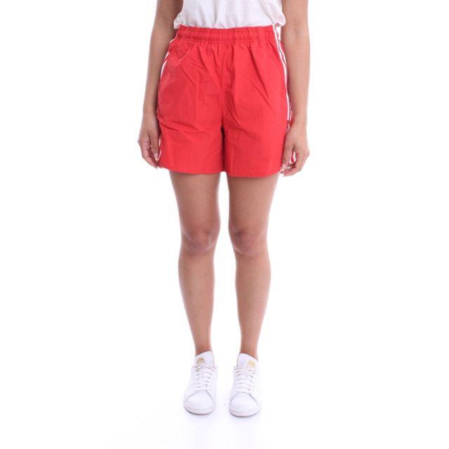 ADIDAS Femme Fm2597 Rouge Polyester Shorts