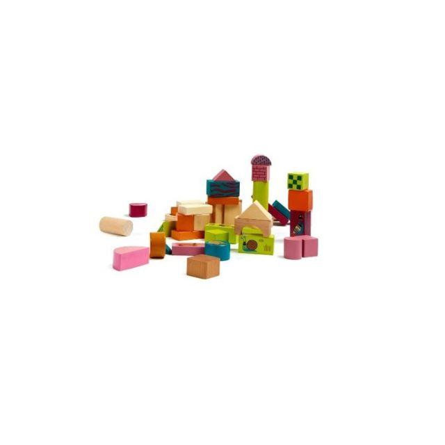 NEOTILUS Happy Building Blocks - Boîte de 50 Blocs de Construction