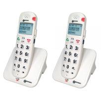 Geemarc - Téléphone dect sans fil - son amplifié - grosses touches -aide  vocale - 26cfa5610ec3