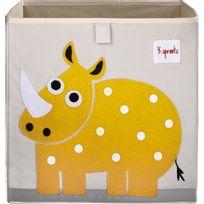 3 SPROUTS - Cube de rangement Mes animaux préférés Rhinocéros