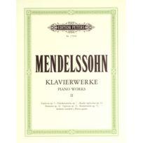 Edition Peters - Partitions Classique Mendelssohn Felix - Complete Piano Works Vol.2 - Piano Piano