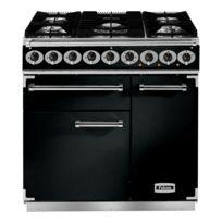 Falcon - Cuisinière gaz Pkr 900 Deluxe F900DXDFBL/CM-EU noir chrome / grilles mates