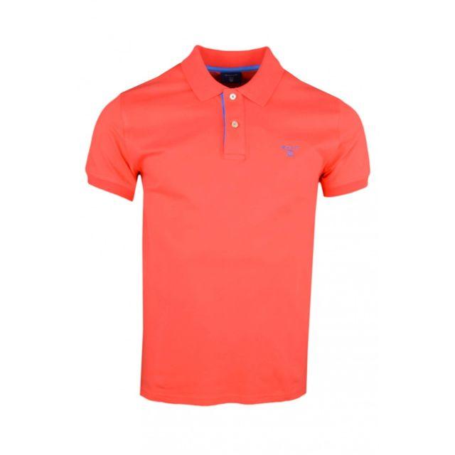 Gant - Polo basique orange fluo pour homme