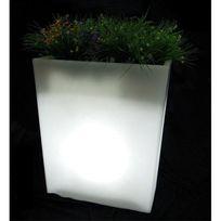Lumisky - jardinière lumineuse blanc 70cm - mps6-05