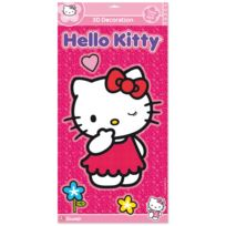 Fun House - Stickers en relief et photoluminescents rose Hello Kitty