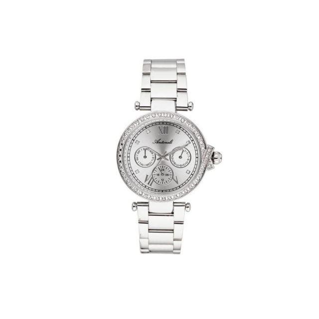 Antoneli - Montre Femme Cadran 33mm En steel Blanc Et Bracelet Argenté En Acier Al0519-04