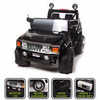 Cristom - 4x4 Hummer Electrique Enfants 2 places Version Luxe 12 Volt Radio , teleccomande parental