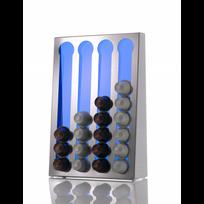 Don Hierro - Support design pour capsules Nespresso. Fabriqué en Acier Inoxydable et Méthacrylate