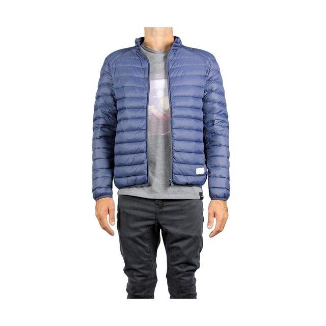 Doudoune homme sans capuche AUBE PullIn en bleu pour homme