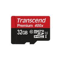 TRANSCEND - Carte Mémoire Micro SDHC UHS-1 - 32 Go - Classe 10 + Adaptateur