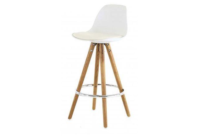 declikdeco tabouret de bar scandinave blanc uma pas cher achat vente chaises rueducommerce. Black Bedroom Furniture Sets. Home Design Ideas