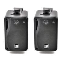 E-audio - Enceintes Passive Noire 80W