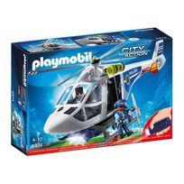 Playmobil - 6874 Hélicoptère de police avec projecteur de recherche
