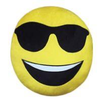 Imoji - Smiley Coussin Deco de 33 cm Cool